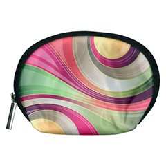 Abstract Colorful Background Wavy Accessory Pouches (medium)