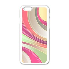 Abstract Colorful Background Wavy Apple Iphone 6/6s White Enamel Case