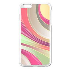 Abstract Colorful Background Wavy Apple Iphone 6 Plus/6s Plus Enamel White Case