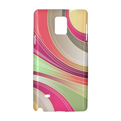 Abstract Colorful Background Wavy Samsung Galaxy Note 4 Hardshell Case