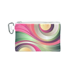 Abstract Colorful Background Wavy Canvas Cosmetic Bag (s)