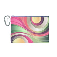 Abstract Colorful Background Wavy Canvas Cosmetic Bag (m)