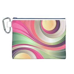 Abstract Colorful Background Wavy Canvas Cosmetic Bag (l)
