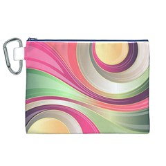 Abstract Colorful Background Wavy Canvas Cosmetic Bag (xl)