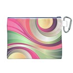 Abstract Colorful Background Wavy Canvas Cosmetic Bag (XL) Back