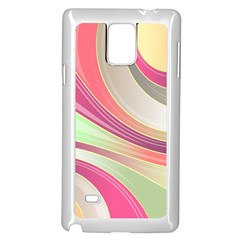 Abstract Colorful Background Wavy Samsung Galaxy Note 4 Case (white)