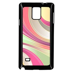 Abstract Colorful Background Wavy Samsung Galaxy Note 4 Case (black)