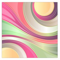 Abstract Colorful Background Wavy Large Satin Scarf (Square)