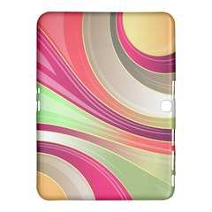 Abstract Colorful Background Wavy Samsung Galaxy Tab 4 (10 1 ) Hardshell Case