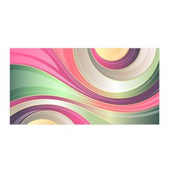 Abstract Colorful Background Wavy Satin Wrap