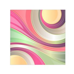 Abstract Colorful Background Wavy Small Satin Scarf (square)