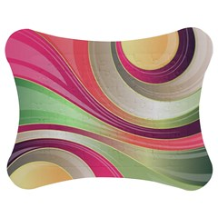 Abstract Colorful Background Wavy Jigsaw Puzzle Photo Stand (bow)
