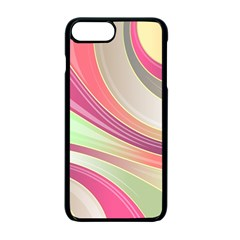 Abstract Colorful Background Wavy Apple Iphone 7 Plus Seamless Case (black)