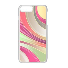 Abstract Colorful Background Wavy Apple Iphone 7 Plus White Seamless Case