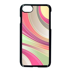 Abstract Colorful Background Wavy Apple Iphone 7 Seamless Case (black)