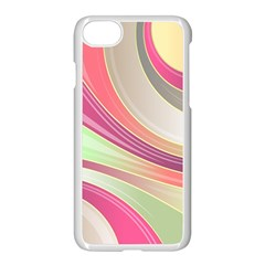 Abstract Colorful Background Wavy Apple Iphone 7 Seamless Case (white)