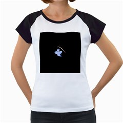 Ghost Night Night Sky Small Sweet Women s Cap Sleeve T