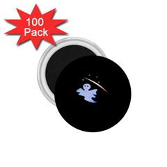 Ghost Night Night Sky Small Sweet 1 75  Magnets (100 Pack)