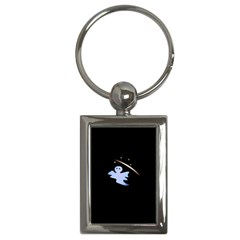 Ghost Night Night Sky Small Sweet Key Chains (rectangle)
