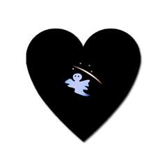 Ghost Night Night Sky Small Sweet Heart Magnet