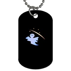 Ghost Night Night Sky Small Sweet Dog Tag (one Side)