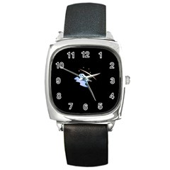 Ghost Night Night Sky Small Sweet Square Metal Watch