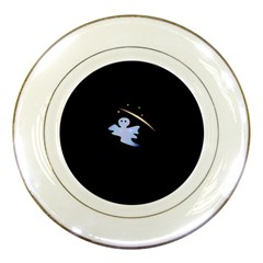 Ghost Night Night Sky Small Sweet Porcelain Plates