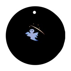 Ghost Night Night Sky Small Sweet Round Ornament (Two Sides)