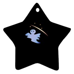Ghost Night Night Sky Small Sweet Star Ornament (two Sides)