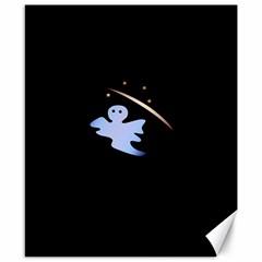 Ghost Night Night Sky Small Sweet Canvas 8  x 10