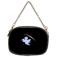 Ghost Night Night Sky Small Sweet Chain Purses (two Sides)