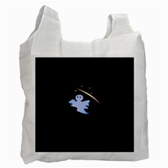 Ghost Night Night Sky Small Sweet Recycle Bag (one Side)