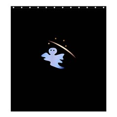 Ghost Night Night Sky Small Sweet Shower Curtain 66  X 72  (large)