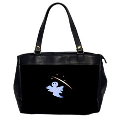 Ghost Night Night Sky Small Sweet Office Handbags (2 Sides)