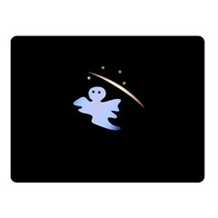 Ghost Night Night Sky Small Sweet Fleece Blanket (small)