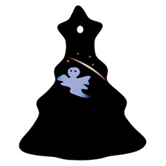 Ghost Night Night Sky Small Sweet Christmas Tree Ornament (2 Sides)