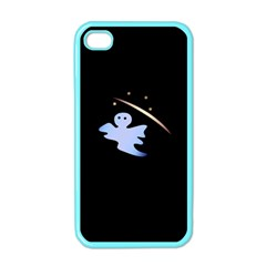 Ghost Night Night Sky Small Sweet Apple Iphone 4 Case (color)