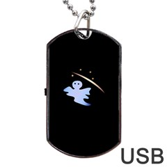 Ghost Night Night Sky Small Sweet Dog Tag Usb Flash (one Side)