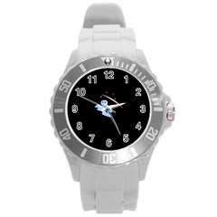 Ghost Night Night Sky Small Sweet Round Plastic Sport Watch (l)