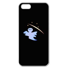 Ghost Night Night Sky Small Sweet Apple Seamless Iphone 5 Case (clear)