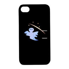 Ghost Night Night Sky Small Sweet Apple Iphone 4/4s Hardshell Case With Stand