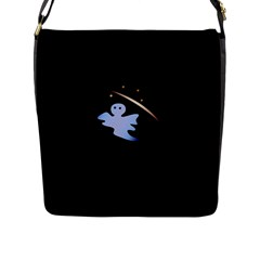 Ghost Night Night Sky Small Sweet Flap Messenger Bag (l)