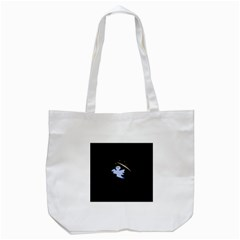 Ghost Night Night Sky Small Sweet Tote Bag (white)