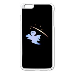 Ghost Night Night Sky Small Sweet Apple Iphone 6 Plus/6s Plus Enamel White Case