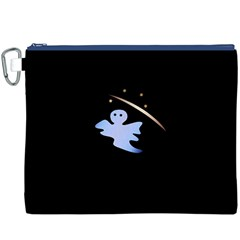 Ghost Night Night Sky Small Sweet Canvas Cosmetic Bag (xxxl)