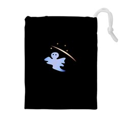 Ghost Night Night Sky Small Sweet Drawstring Pouches (extra Large)