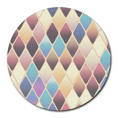 Abstract Colorful Background Tile Round Mousepads