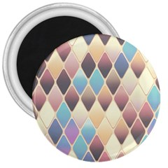 Abstract Colorful Background Tile 3  Magnets