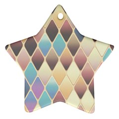 Abstract Colorful Background Tile Ornament (star)