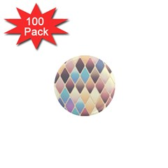 Abstract Colorful Background Tile 1  Mini Magnets (100 Pack)